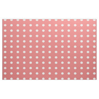 Coral Polka Dot Fabric