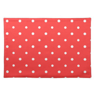 Coral Polka Dots Placemat