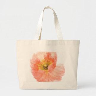 Coral Poppy Jumbo Tote Bag