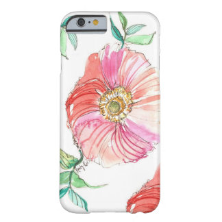 Coral Poppy Watercolor iPhone 6 case
