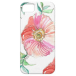 Coral Poppy Watercolor iPhone Case iPhone 5 Cover