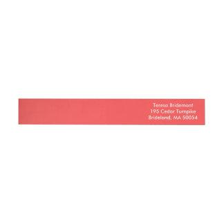 Coral Red Classic Color Design Wrap Around Label