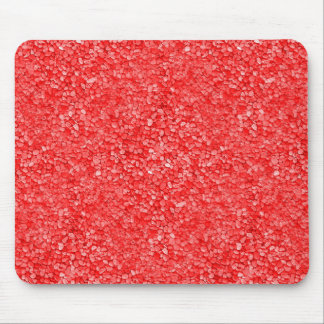 Coral Red Gravel Look Mouse Pad