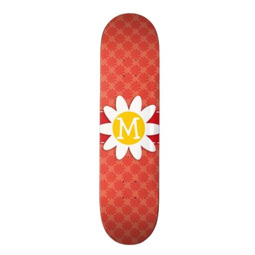 Coral & Red Swirl; Spring Flower Skate Boards