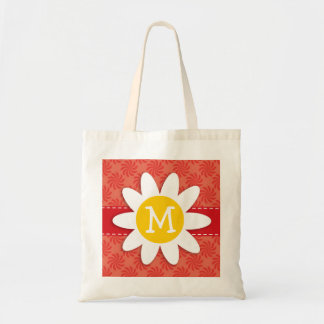 Coral & Red Swirl; Spring Flower Tote Bag