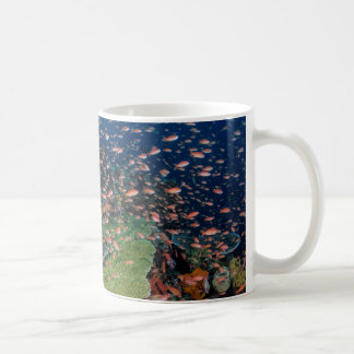 Coral Reef and Fish Schools Coffee Mug