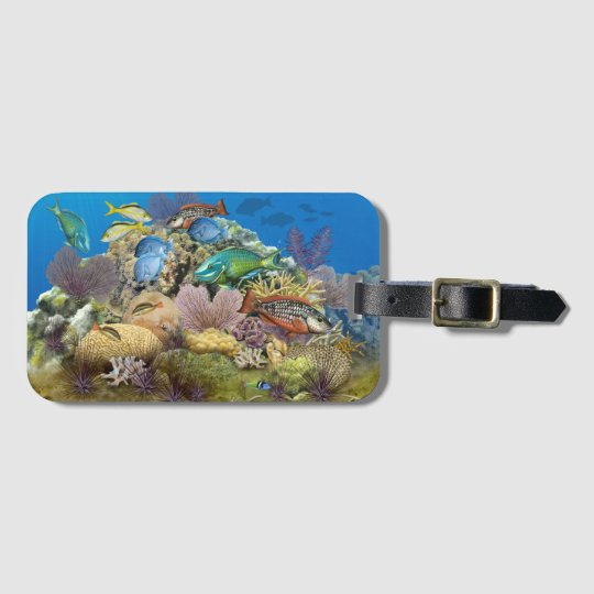 Coral Reef and Reef Fish Luggage Tag