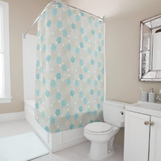 Coral Reef and sand dollar beach theme Shower Curtain