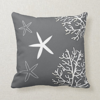 Coral Reef and Starfish Throw Pillow