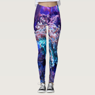 coral reef LEGGINGS
