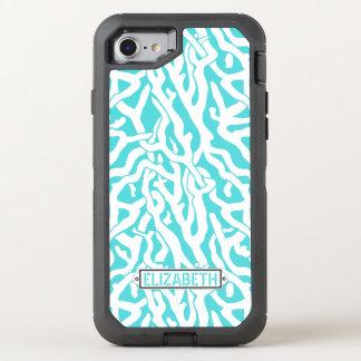 Coral Reef Nautical Beach Aqua Blue White | OtterBox Defender iPhone 8/7 Case