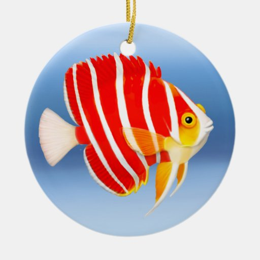 Coral Reef Peppermint Angelfish Ornament