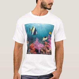 Coral Reef Scenery   Moorish Idol T-Shirt