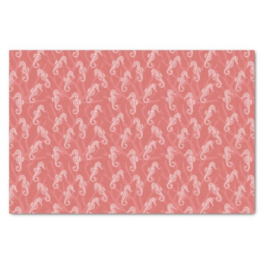 Coral Reef Seahorse Tissue Paper