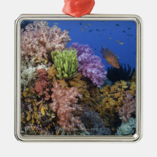 Coral reef, uderwater view christmas ornament