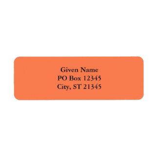 Coral Return Address Label
