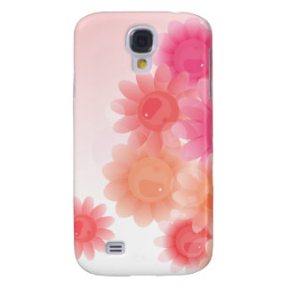 Coral romantic vintage flowers galaxy s4 case