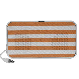 Coral Rose And Horizontal White Large Stripes iPhone Speaker