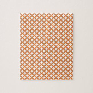 Coral Rose And White Graphic Art. Mesh Pattern Jigsaw Puzzle