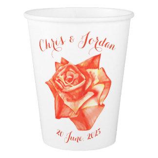Coral Rose Simple Elegant Summer Wedding