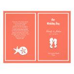 Coral Sea-life Beach Wedding Program Template 21.5 Cm X 28 Cm Flyer