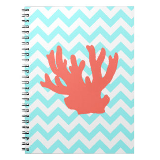 Coral Silhouette Notebook