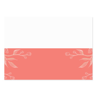 Coral | Simple and Elegant Custom Place card Pack Of Chubby Business Cards
