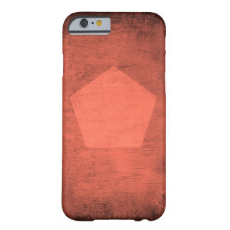 Coral Smudge with Pentagon - Phone Case Barely There iPhone 6 Case