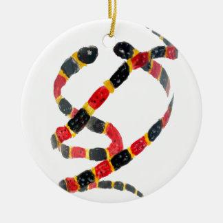 Coral Snake Art Christmas Ornament