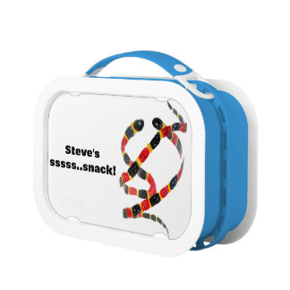 Coral Snakes Wildlife Art Personalized Lunch Box