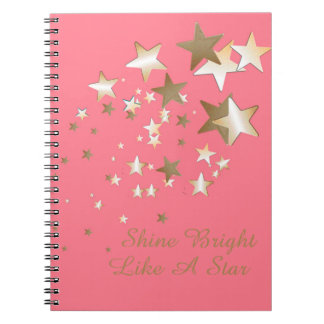 Coral Star Spiral Notebook