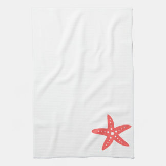 Coral Starfish Tea Towel