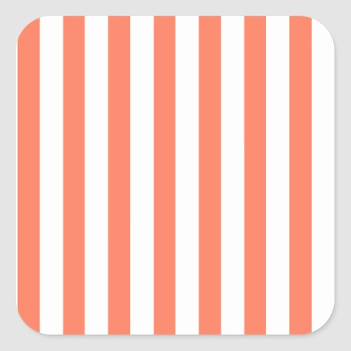 Coral Stripes (Add 2nd Color) Sticker