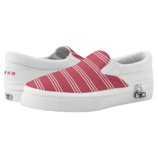 Coral Stripes custom monogram shoes