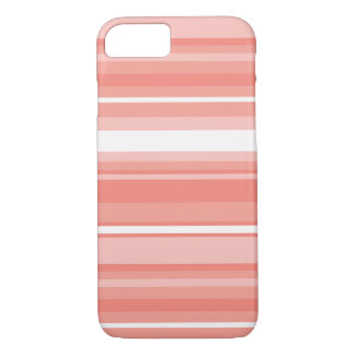 Coral stripes iPhone 7 case