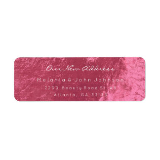 Coral Sweet-Red Pink White New Adress RSVP Return Address Label