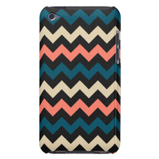 Coral Teal Chevron iPod Case-Mate Case