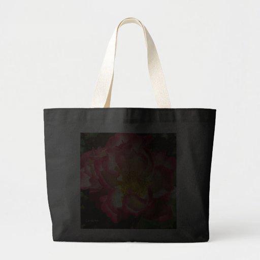 Coral-Tinged Rose Tote Bags