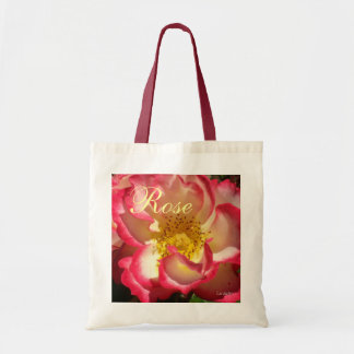 Coral-Tinged Rose Budget Tote Bag