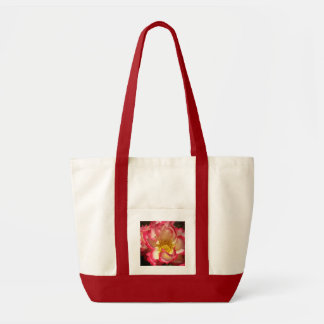 Coral-Tinged Rose Impulse Tote Bag