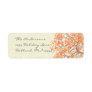 Coral Tree Damask Return Address
