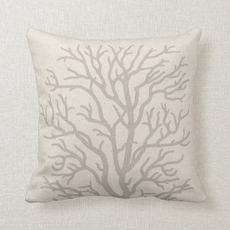 Coral Tree in Taupe Grey Cushion