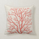 Coral Tree Nautical in Coral Pink Cushion