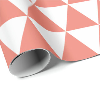 Coral Triangles Wrapping Paper