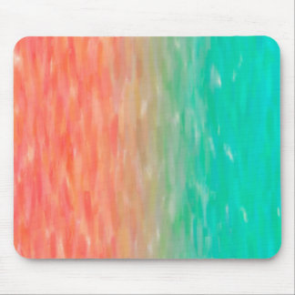 Coral & Turquoise Ombre Watercolor Teal Orange Mouse Mat