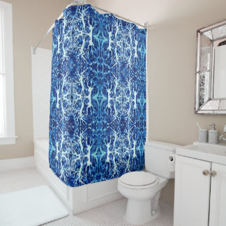 Coral Water Kaleidoscope Shower Curtain