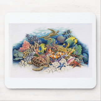 Coral Waters With Tropical Fish Mouse Pad