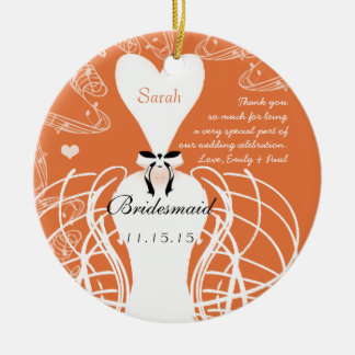 Coral Wedding Gown Bridesmaid Wedding Christmas Christmas Ornament