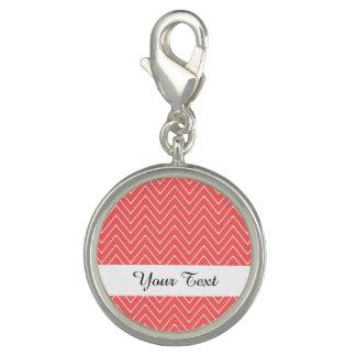 Coral White Chevron Pattern Bracelets