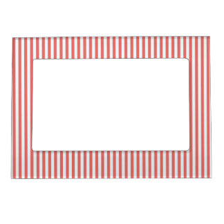 Coral & White Sailor Stripes Picture Frame